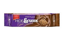 Parle Hide & Seek Chocolate Choco Chip Creme Sandwiches Biscuit