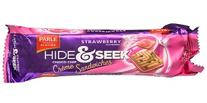 Parle Hide & Seek Choco Chips Strawberry Sandwich Biscuits100 gm