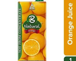 B Natural - Orange Oomph, 1L Carton