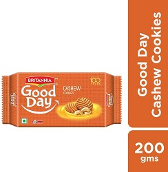 Britannia Good Day Cashew Cookies, 200g
