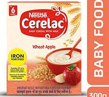 Nestlé CERELAC Fortified Baby Cereal with Milk, Wheat Apple – From 6 Months, 300g