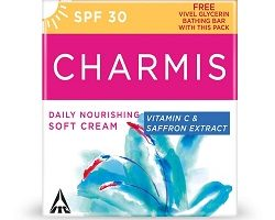 Charmis Soft Cream 100ml + 75g Vivel Glycerine, 100 ml with Soap