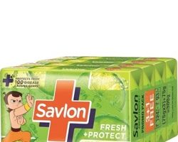 Savlon Fresh+Protect Soap 45gX4