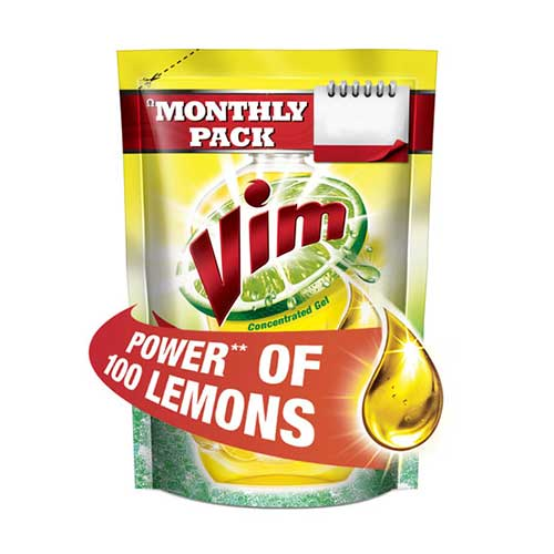 Vim Lemon Concentrated Dishwash Gel 225 ml