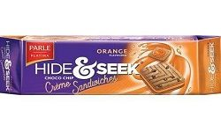 Parle Hide Seek Orange Cream Biscuit, 75gm