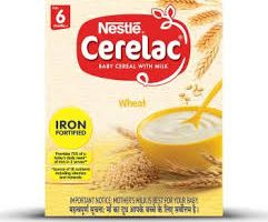 Nestlé CERELAC Fortified Baby Cereal with Milk, Wheat – From 6 Months, 300g