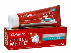Colgate Toothpaste Visible White Plus Shine - 100 g (Whitening)