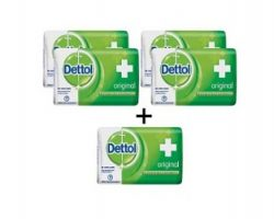 Dettol Original soap, Buy 4 get 1 Free (Pack of 5)
