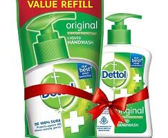Dettol Liquid Handwash (Original) - 200 ml with Free Liquid Handwash - 175 ml