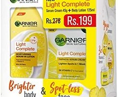 Garnier Light Complete UV Cream, 45g with Light Complete Lotion, 125ml