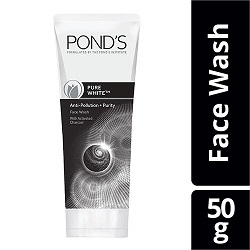 Pond's Pure White Anti Pollution With Activated Charcoal Facewash, 50gm