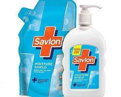 Savlon Moisture Shield Handwash - 200 ml & free Savlon Moisture Shield Handwash 185ml