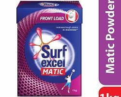 Surf Excel Matic Front Load Detergent Powder, 1 kg Carton